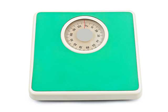 Green Weight Loss Scales.