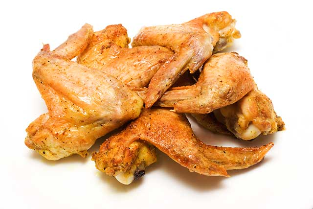 Several Grilled Chicken Wings.