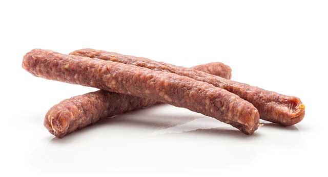 Three Pepperoni Sausages.