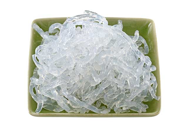 Kelp Noodles - a Translucent Noodle Made From Seaweed.