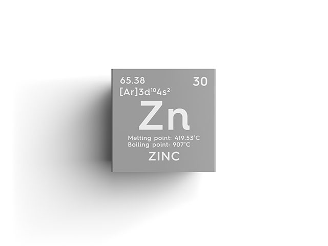 Zinc Periodic Table Element and Information.