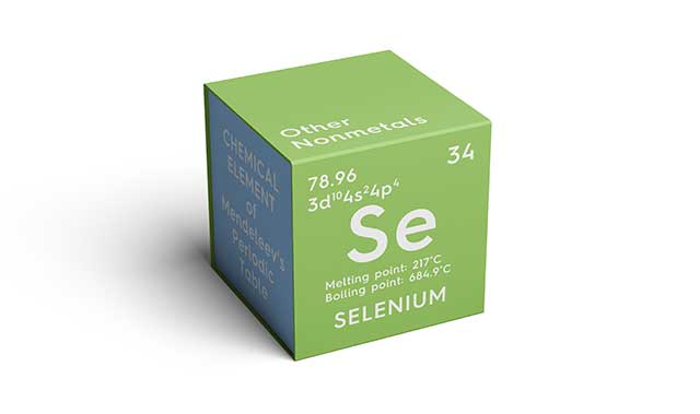 Chemical Element and Symbol For the Mineral Selenium.