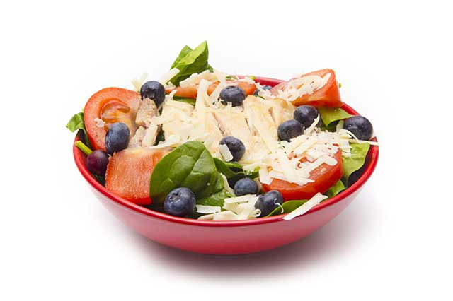 Fresh Bowl of Salad Featuring Fiber-Dense Carbohydrates.