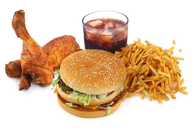 A Collection of Junk Food (Fast Food).