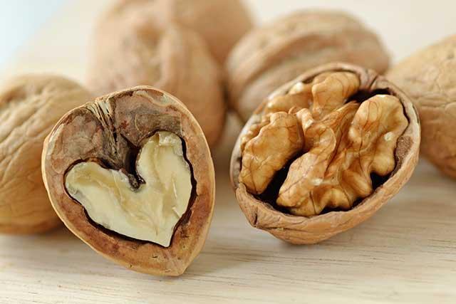 Walnut In a Shell Shaped Like a Heart.