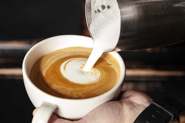 A Frothy Milky Cup of Hot Latte.