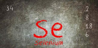 The Selenium Chemical Element On a Dark Background.