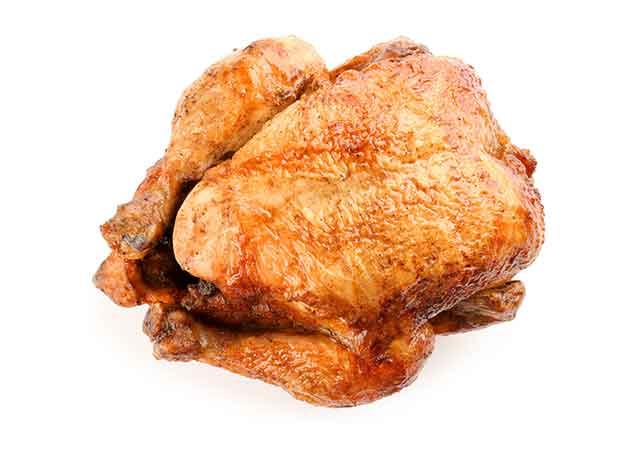 Whole Roasted Turkey With Skin.