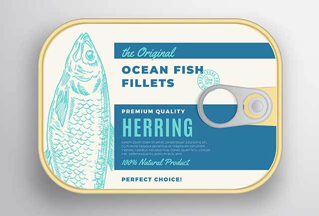 A Pack of Canned Herring Fillets.