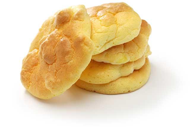 Five Pieces of Cloud Bread (Oopsie Bread).