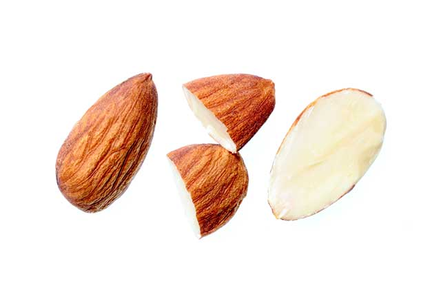 Whole and Half Almonds - Skin and No Skin.