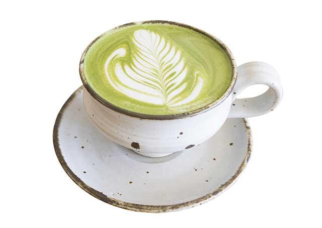 Cup of Hot Matcha Green Tea Latte.