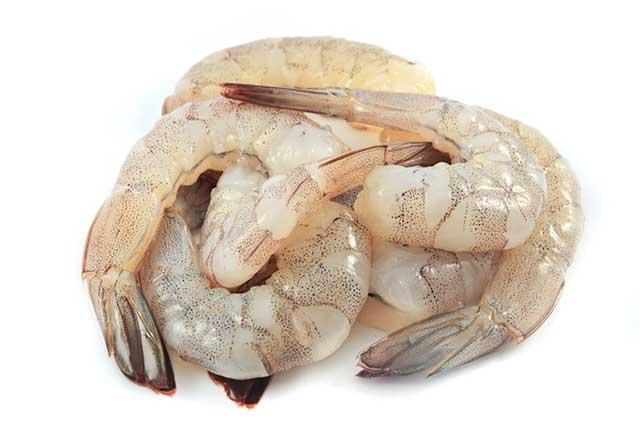 Several Large Fresh Shrimps.