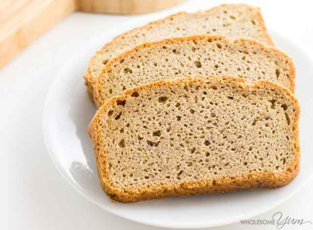 Low Carbohydrate Slices of Bread Made With Almond Flour.