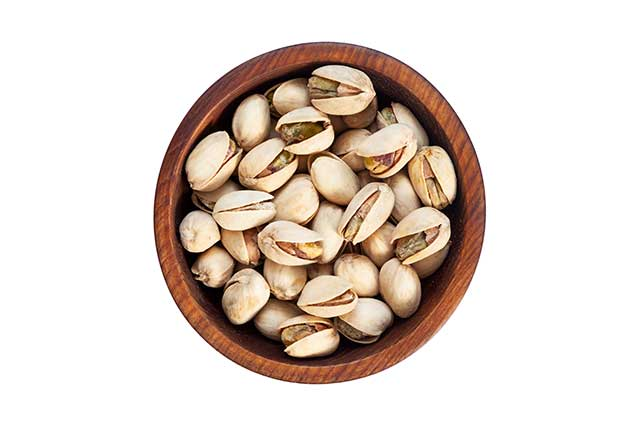 Pistachio Nuts In a Bowl.