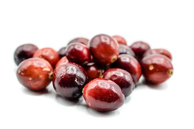 A Pile of Fresh Cranberries Close Together.