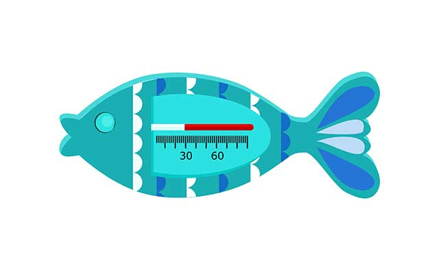 Fish Illustration Containing a Mercury Thermometer.