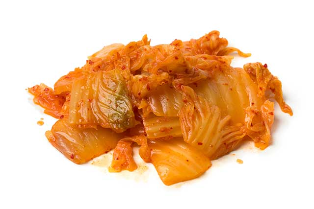 Pieces of Korean Fermented Kimchi.