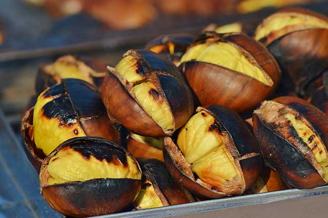 Close-up Photo of Roasted Chestnuts.