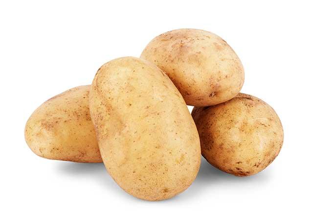 Four Small Raw Potatoes.