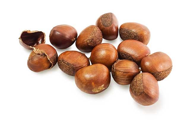 Roasted European Sweet Chestnuts.