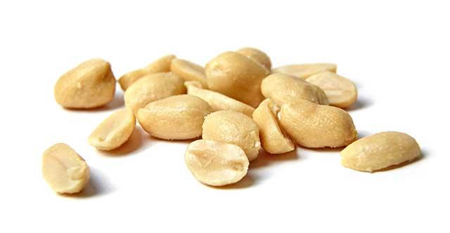 Pile of Roasted Salted Peanuts.