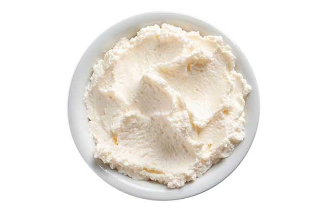Bowl of Fresh Cream Cheese.