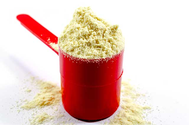 Scoop of Whey Protein Powder.