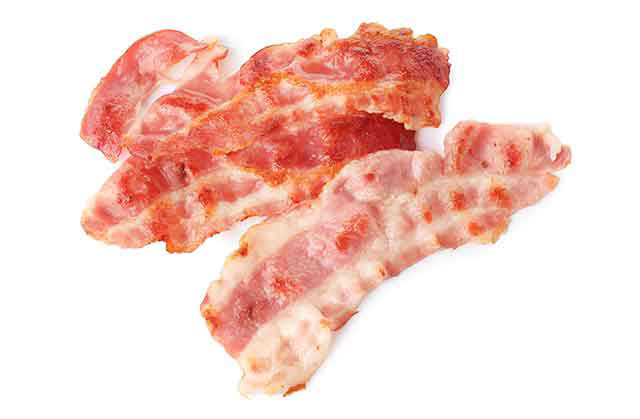 Several Slices of Grilled Bacon.