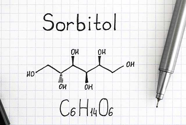 Chemical Formula of Sorbitol.