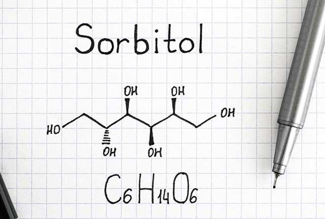 Chemical Formula of Sorbitol.