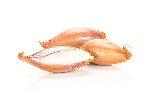Golden Shallots - Whole With Skin and Cut In Half.