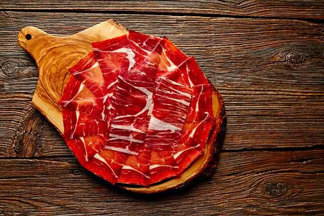 Jamon Iberico Slices - Tapas Plate.