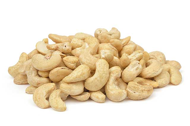 Pile of Cashew Nuts Without Their Shells.