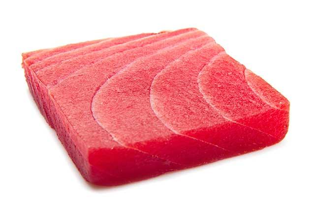 Slice of Tuna Sashimi.