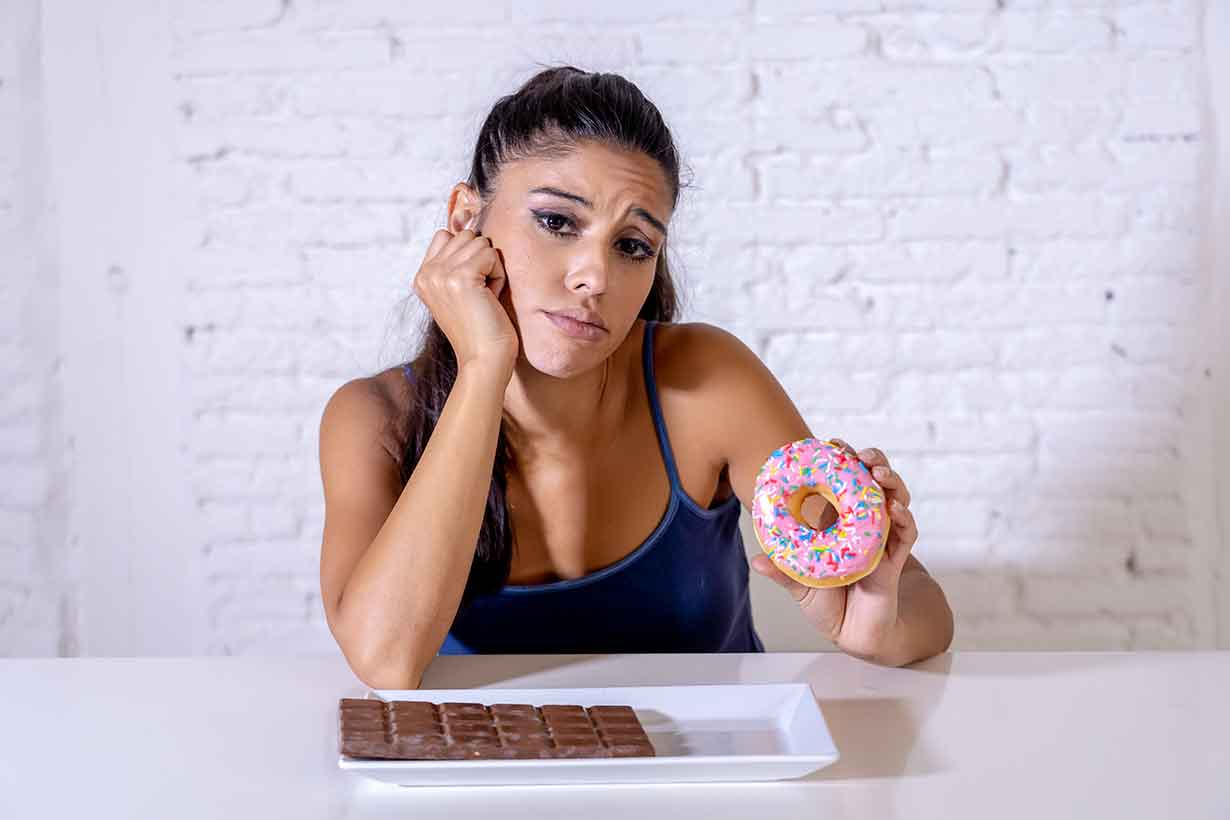 Young Lady Holding a Donut (Sugar Addiction Theme).