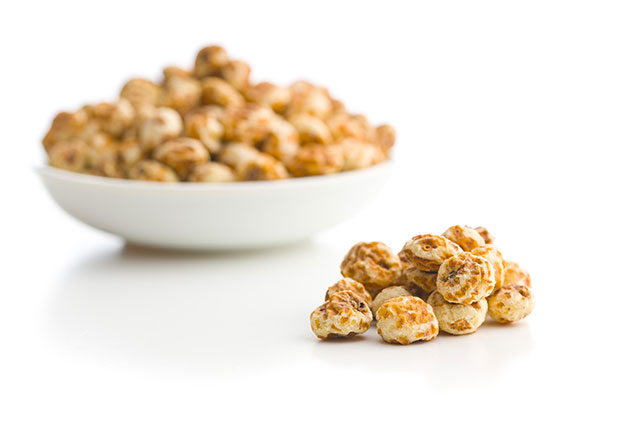 Tiger Nuts In a Small White Bowl.