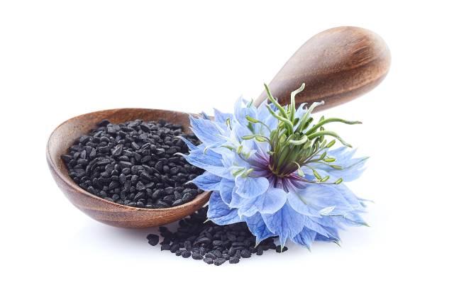 Bowl of Black Cumin Seeds.
