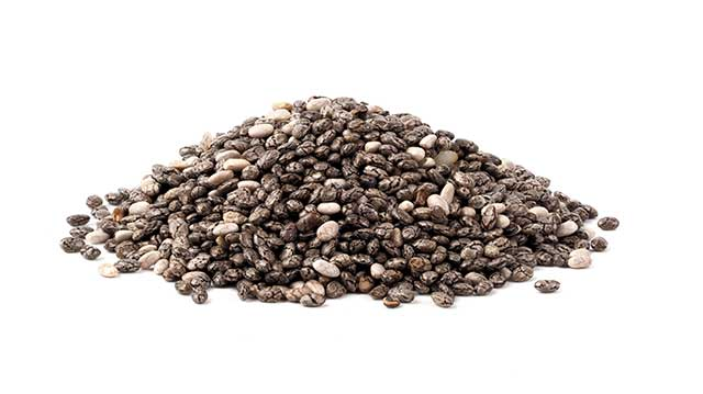 Heap of Chia Seeds In a Pile.
