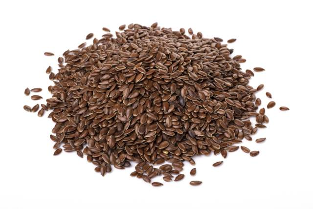 Pile of Brown Flaxseeds
