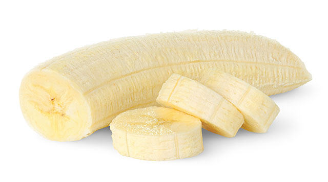 Sliced Banana Without Skin.