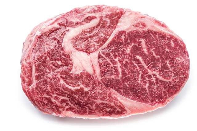 Grain-fed Ribeye Steak With Marbling.
