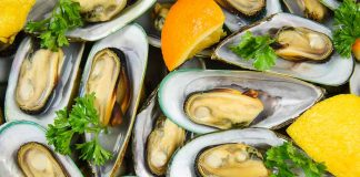 A Plate Full of Mussels With Open Shells.