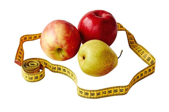 Fresh Fruit and Weight Measuring Tape.