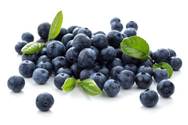 A Pile of Fresh Blueberries.