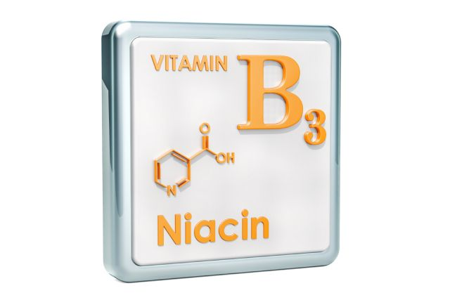 The Structure and Name of Vitamin B3 (Niacin).