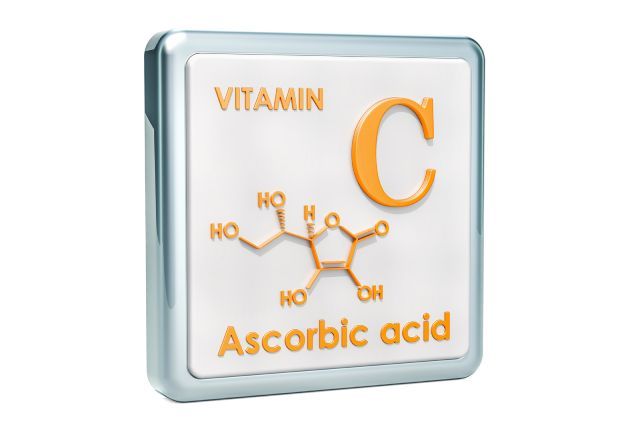 The Structure and Name of Vitamin C (Ascorbic Acid).