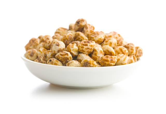 Tiger Nuts In a White Bowl.