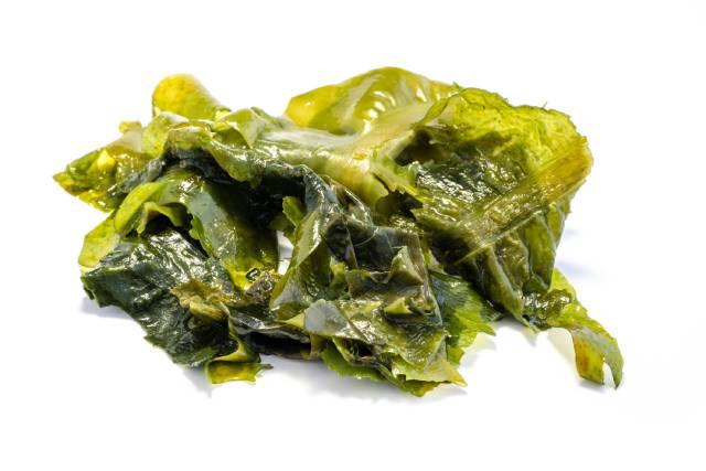 Green Wakame Seaweed.
