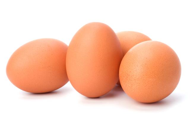 Four Whole Eggs In Their Shells.